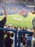 サヨナラ勝ち後の神宮球場