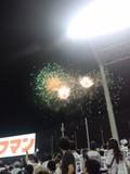 神宮球場での花火