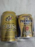 エビスビールとプレミアムモルツ