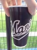 QVCマリンフィールドでビールを買った時の紙コップ