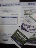 東京ヤクルトスワローズの2013年度の会員証と外野自由席チケット