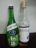 日本酒 初孫とウイスキー DOUGLAS BLEND