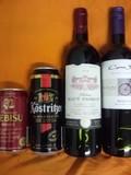 ビールと赤ワイン
