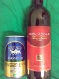 カンティーナ・ラヴォラータ ネロ・ダーヴォラの赤と銀河高原ビール