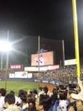 石井 弘寿投手の投球練習中